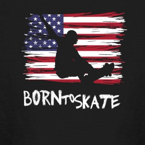 Born to skate America flag usa Pride Street fun lo - Kids' Long Sleeve T-Shirt