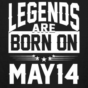 Legends are born on May 14 - Kids' Long Sleeve T-Shirt