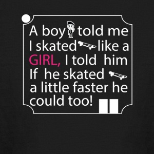 Girl Skater Cool Tee Shirt - Kids' Long Sleeve T-Shirt