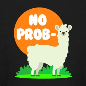 No Probllama - Clever No Problem Llama Design - Kids' Long Sleeve T-Shirt