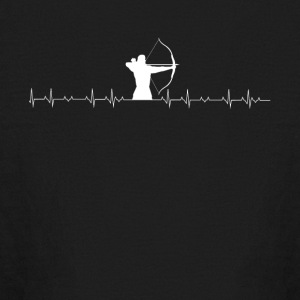 Archery lover heartbeat - Kids' Long Sleeve T-Shirt