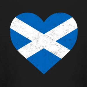 Scotland Flag Shirt Heart - Scottish Shirt - Kids' Long Sleeve T-Shirt