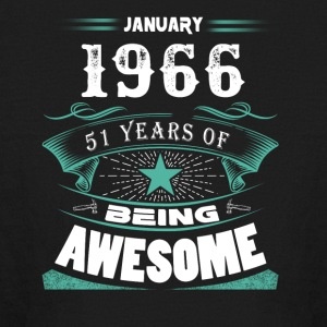 January 1966 - 51 years of being awesome (v.2017) - Kids' Long Sleeve T-Shirt