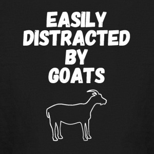 Easily distracted by goats - Kids' Long Sleeve T-Shirt