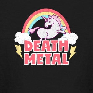 Death Metal Unicorn Thunder Rainbow Clouds Unicorn - Kids' Long Sleeve T-Shirt