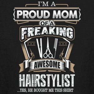 Proud Mom Of A Freaking Awesome Hairstylist - Kids' Long Sleeve T-Shirt