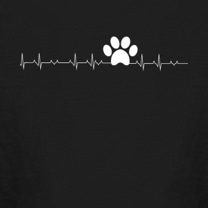 Pawprint heartbeat - Kids' Long Sleeve T-Shirt