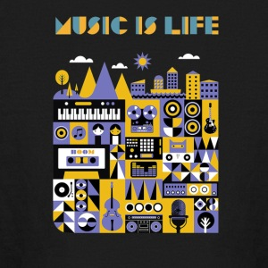 music is life shirt - Kids' Long Sleeve T-Shirt