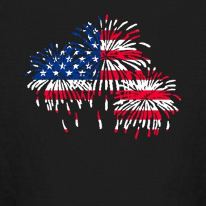 firework american flag t-shirt - Kids' Long Sleeve T-Shirt