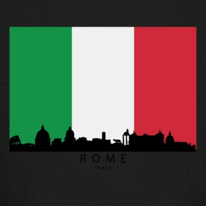 Rome Italy Skyline Italian Flag - Kids' Long Sleeve T-Shirt