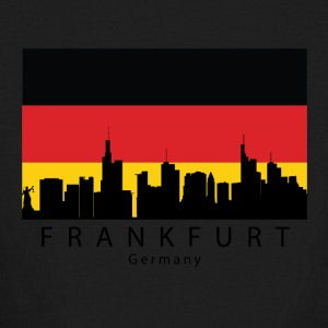 Frankfurt Germany Skyline German Flag - Kids' Long Sleeve T-Shirt