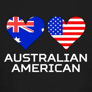 Australian American Hearts - Kids' Long Sleeve T-Shirt