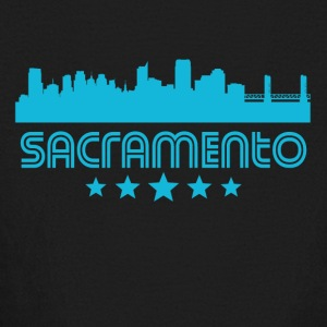 Retro Sacramento Skyline - Kids' Long Sleeve T-Shirt