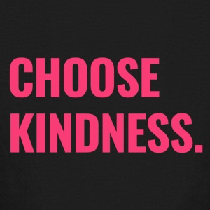 Choose Kindness (bold pink lettering) - Kids' Long Sleeve T-Shirt