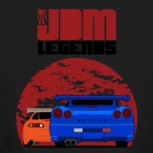 JDM Legends Nissan Skyline GTR R34 & Toyota Supra - Kids' Long Sleeve T-Shirt