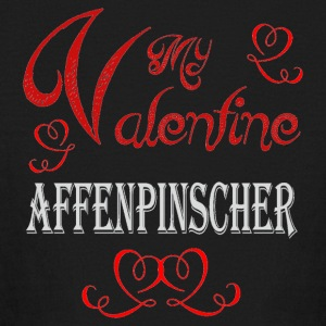 A romantic A romantic Valentine with my Affenpinsc - Kids' Long Sleeve T-Shirt