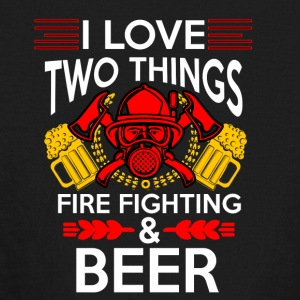 I love Fire Fighter And Beer T-shirt - Kids' Long Sleeve T-Shirt
