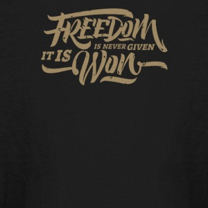Freedom is never given it is won - Kids' Long Sleeve T-Shirt