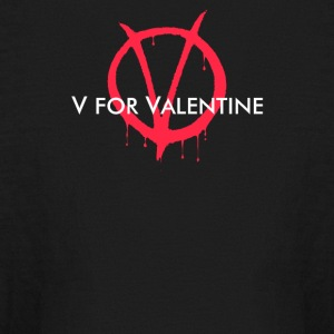 V for Valentine - Kids' Long Sleeve T-Shirt