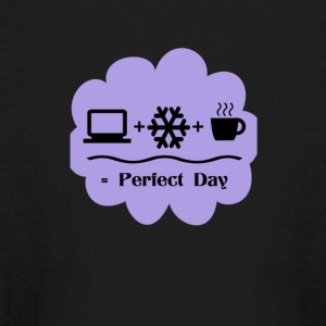 Bedroom Wall Art Computer Snow Coffee Perfect Day - Kids' Long Sleeve T-Shirt