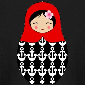Red Matryoshka doll with anchors - Kids' Long Sleeve T-Shirt