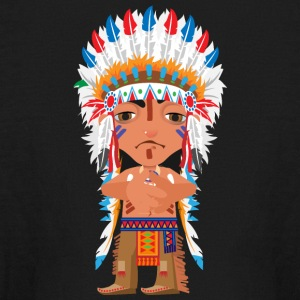 American Indian chief leader vector illustration - Kids' Long Sleeve T-Shirt