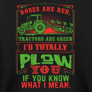 Farmer I'd totally plowm Funny Shirt - Kids' Long Sleeve T-Shirt