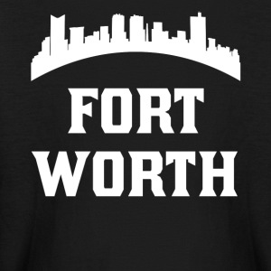 Vintage Style Skyline Of Fort Worth TX - Kids' Long Sleeve T-Shirt
