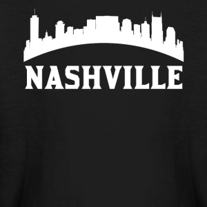Vintage Style Skyline Of Nashville TN - Kids' Long Sleeve T-Shirt