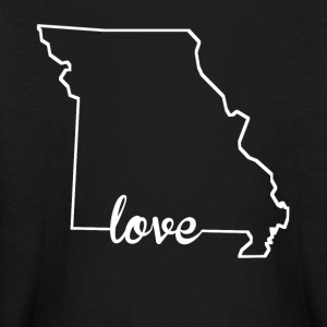 Missouri Love State Outline - Kids' Long Sleeve T-Shirt