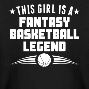 This Girl Is A Fantasy Basketball Legend - Kids' Long Sleeve T-Shirt