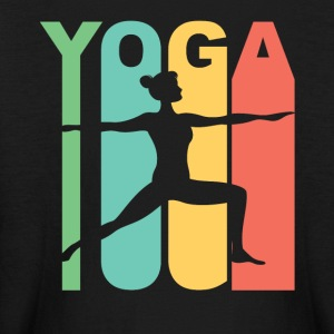 Vintage Style Warrior Two Yoga Pose Silhouette - Kids' Long Sleeve T-Shirt