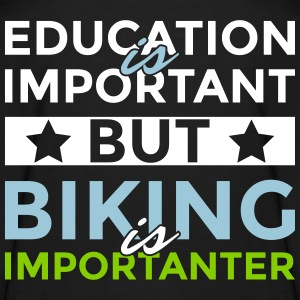 Education is important but biking is importanter - Kids' Long Sleeve T-Shirt