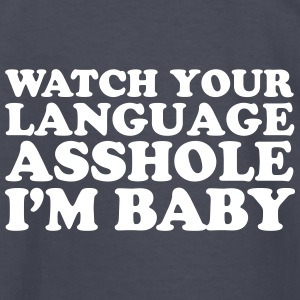 Watch Your Language - Kids' Long Sleeve T-Shirt