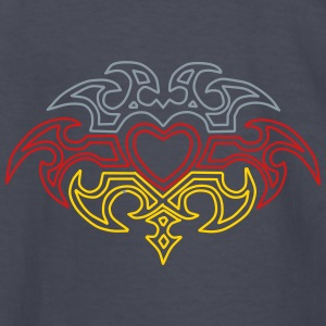 Heart Tribal Design - Kids' Long Sleeve T-Shirt