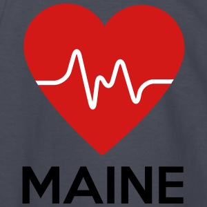 Heart Maine - Kids' Long Sleeve T-Shirt