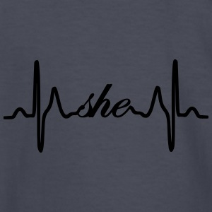 She ECG Heartbeat - Kids' Long Sleeve T-Shirt