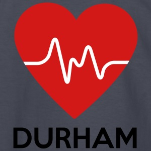 Heart Durham - Kids' Long Sleeve T-Shirt