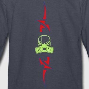 Head with Pistons in Tribal - Kids' Long Sleeve T-Shirt