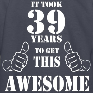 39th Birthday Get Awesome T Shirt Made in 1978 - Kids' Long Sleeve T-Shirt