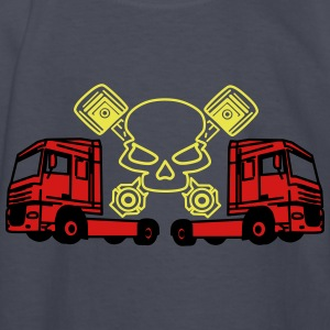 Piston Skull and Trucks - Kids' Long Sleeve T-Shirt