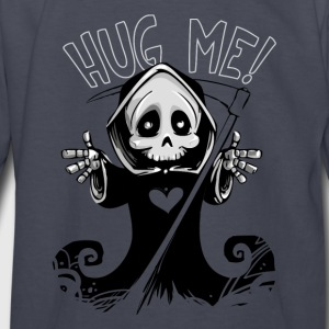 Cute Grim Reaper with Scythe Pointing - Free Hugs - Kids' Long Sleeve T-Shirt