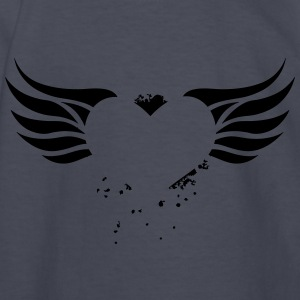Heart with Wings - Kids' Long Sleeve T-Shirt