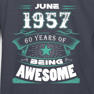 June 1957 - 60 years of being awesome - Kids' Long Sleeve T-Shirt