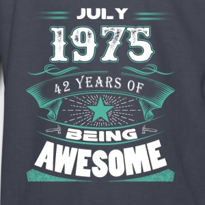 July 1975 - 42 years of being awesome - Kids' Long Sleeve T-Shirt
