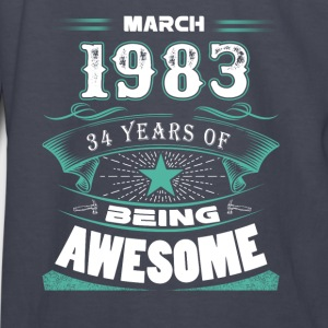 March 1983 - 34 years of being awesome (v.2017) - Kids' Long Sleeve T-Shirt