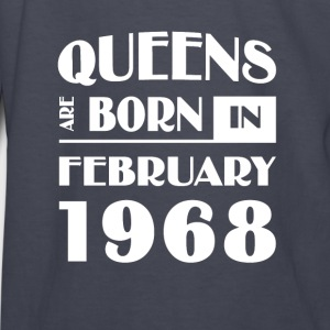 Queens are born in February 1968 - Kids' Long Sleeve T-Shirt
