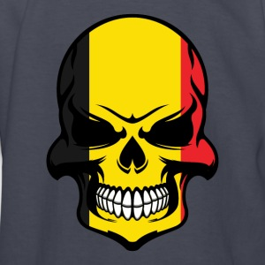 Belgian Flag Skull Cool Belgium Skull - Kids' Long Sleeve T-Shirt
