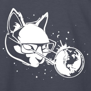 Cat in Space lasers nerd hipster - Kids' Long Sleeve T-Shirt