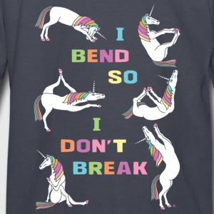 I Bend So I Don t Break 6 Unicorns Bold Font - Kids' Long Sleeve T-Shirt